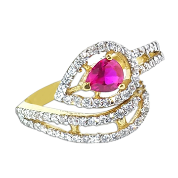 916 Gold Pink Stone Ring SO-R007