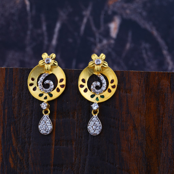 22kt Gold Designer Hallmark Earrings LFE292