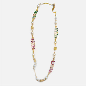 22KT Gold colorful Pearl Mala RHJ-4802