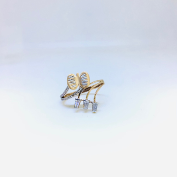 BRANDED FANCY ROSE GOLD BUTTERFLY RING by