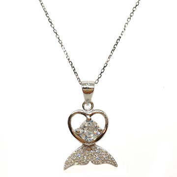 925 Sterling Silver Heart Shaped Necklace Chain MGA - NKS0050
