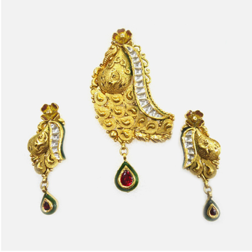 916 Gold Antique Pendant Set RHJ-2057