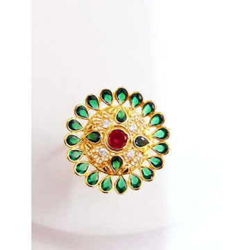 Gold Round Shape Modern Ring