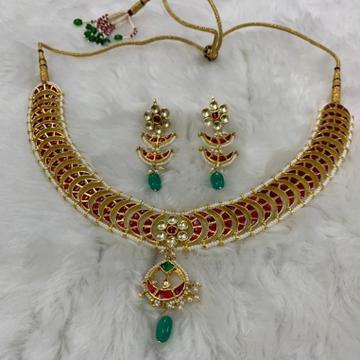 Designer kundan jadau necklace Set by