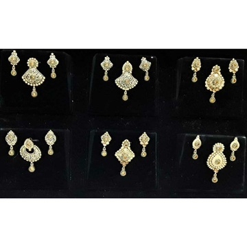 22KT Gold Antique Pendant Set