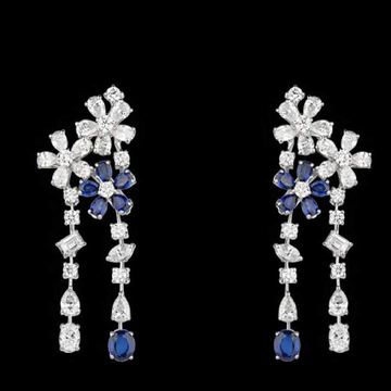 Diamonds and Blue Sapphires EarringsJSJ0145