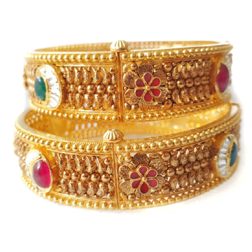 22k gold antique kada bangles mga - gp072