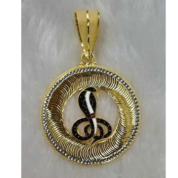 Gold goga maharaj pandant