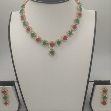 Multicolour CZ Stones Necklace Set  JNC0049