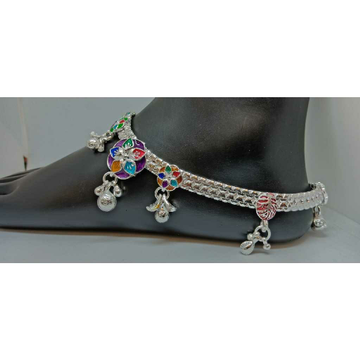 Exclusive Silver Colorful Payal