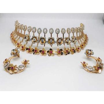18k Ladies Fancy Rose Gold Set S-57524