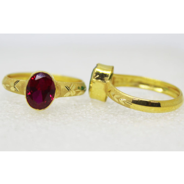916 gold single stone Light Weight ladies ring