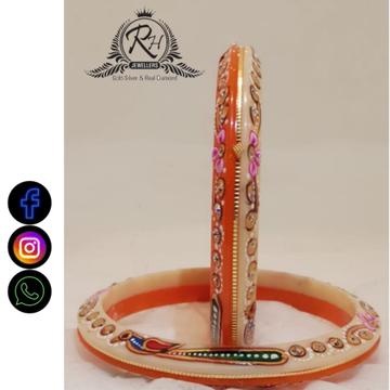 22 carat gold party wear plastic ladies bangles RH-BN610
