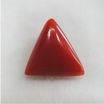 4.00ct (4.39 ratti) triangle natural red-coral (mungaa) KBG-C021