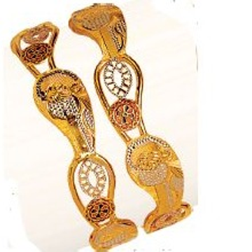 916 Gold Modern Unique Vakiya Kadli ( Pieces )