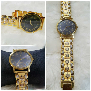 916 Gents Fancy Gold Watch G-1003