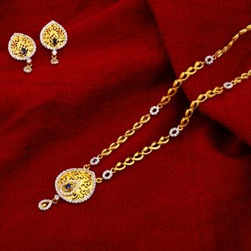 22kt Gold Ladies Designer Hallmark Chain Necklace CN124
