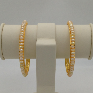 Cream Flat Pearls Bangles JBG0058
