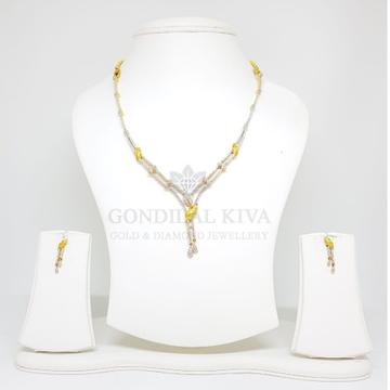 18kt gold necklace set gnl9 - gft34