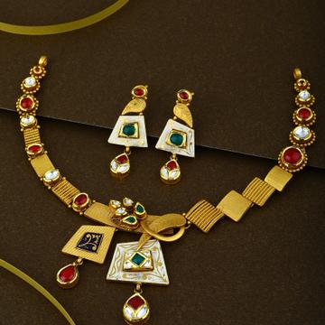 22KT Hallmark Gold Classic Necklace Set