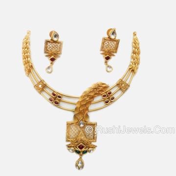 22k Gold Designer Bridal Necklace Set
