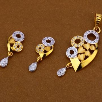 22 carat gold ladies pendants set RH-PS715