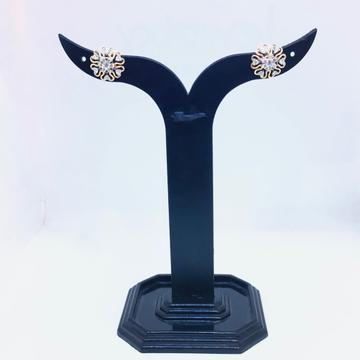 REAL DIAMOND FANCY ROSE GOLD EARRING by