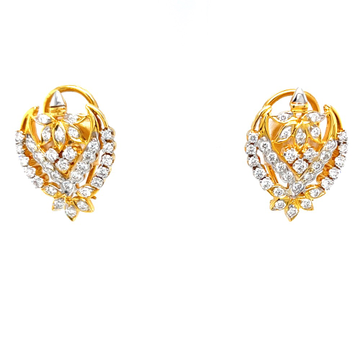 Traditional diamond earrings inspired by auspicious kalash 9top149