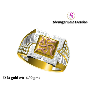 22KT Gold Attractive Swastik Ring