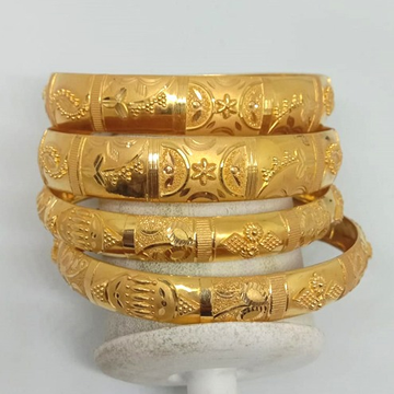 916 Gold Classic Bangle set
