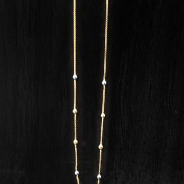 22 CARAT GOLD LIGHT WEIGHT CHAIN by Suvidhi Ornaments