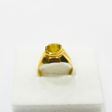 22kt, 916 HM, yellow gold Yellow Sapphire Ring for men JKR205