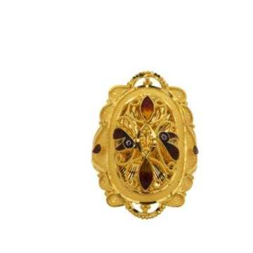 22 k light weight yellow gold ladies ring by