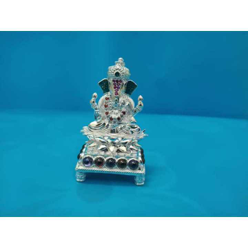 4(Four) Pillers Vaccum Casting Ganpatiji Murti(Bhagvan,God,Idol) Ms-2357