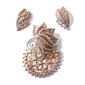 18k rose gold pendant set mga - rps009