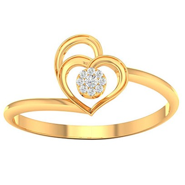 18k gold real diamond ring mga - rdr009