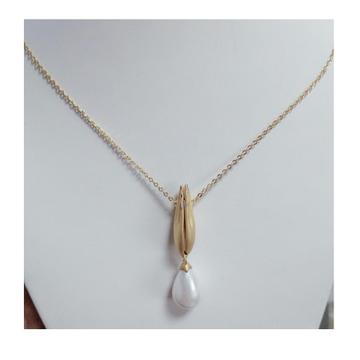 916 Gold Folding Namasta Chain Pendal RH-CP45