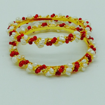 Pearls and corals baldar bangles jbg0074