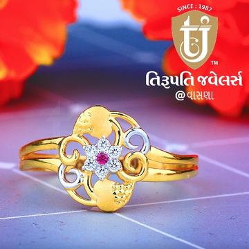 22KT Gold Flower Design Ring TJ-R06 by