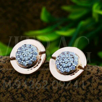 18kt Round Shape Rose Gold Cz Ladies Tops ATG -0399