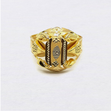 Light Weight Nazrana Design Gold Ring