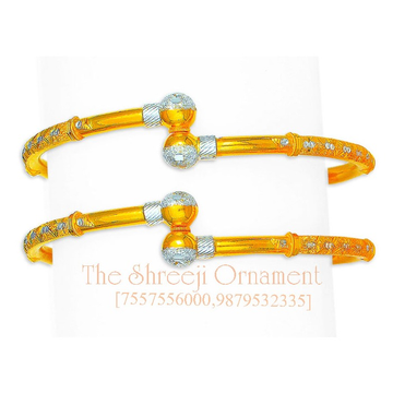 916 Gold Designer Ball Pipe Copper Kadali - 0009