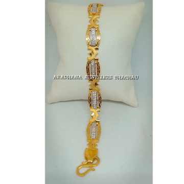 916 Gold Indian Bracelet With Diamond