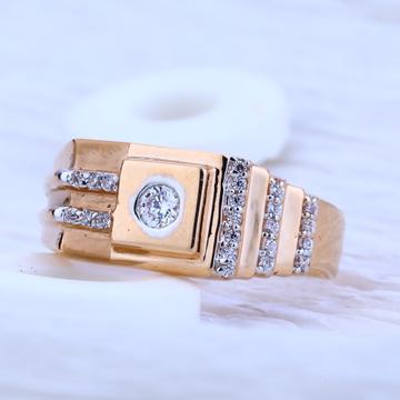 750 Rose Gold Exclusive Hallmark Men's  Ring RMR52