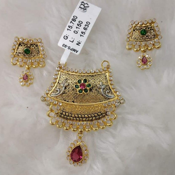 GOLD 22K/916 antic rajwadi mangalsutra pendal with tops  RH-MS134