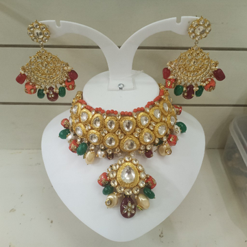 92.5 pure silver sabyasachhi designed kundan necklace p1126