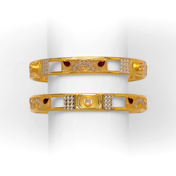 GOLD COPPER SUPERB DESIGNED BANGLE KADLI