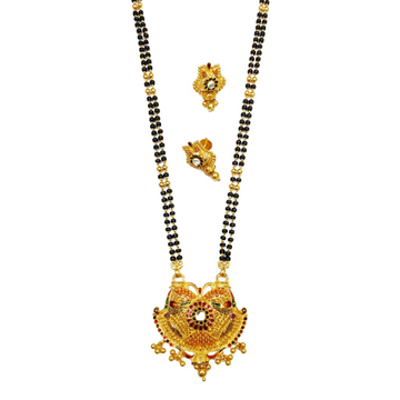 22k gold kalkatti earring with mangalsutra mga - gm020