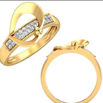 22Kt Yellow Gold Entwined Appeal Ring For Women