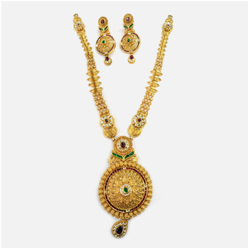 916 Gold Antique Long Necklace Set RHJ-0004